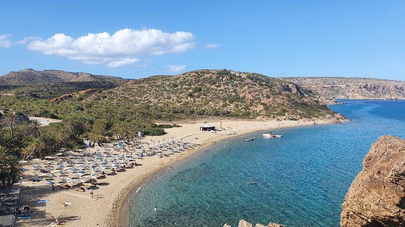 Vai Palm Beach, Kreta