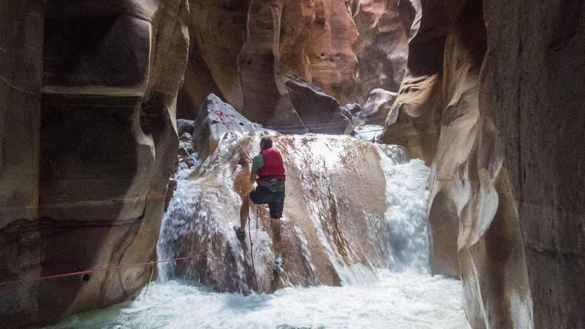Canyoning im Wadi Mujib, Jordanien
