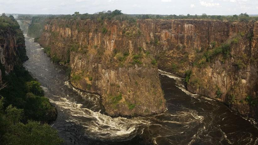 Ziplning, Flying Fox & Co, Batoka Gorge, Simbabwe