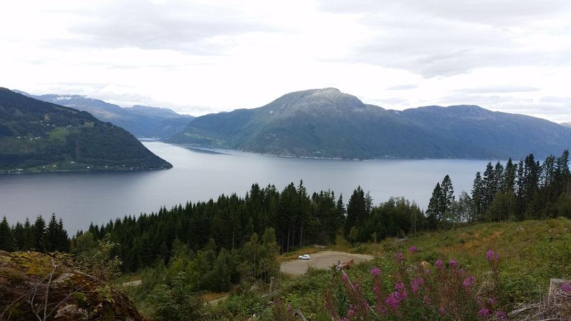 Dronningsstien in Kinsarvik am Hardangerfjord, Norwegen