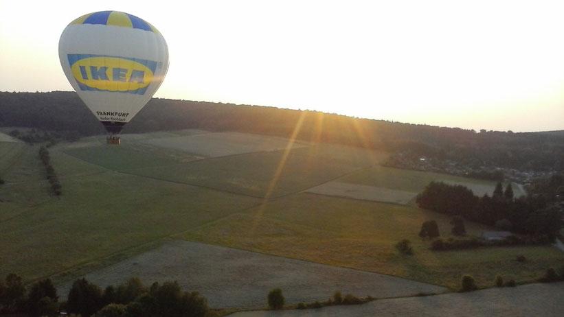 Ballonfahrt im Taunus, Hessen