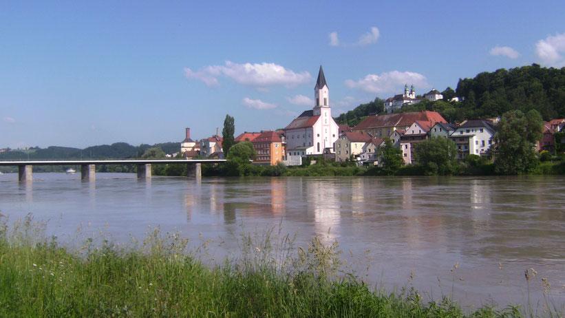 Drei-Flüsse-Kajak-Tour in Passau, Bayern