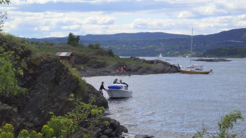 Bootsfahrt über den Oslofjord, Norwegen