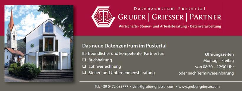Gruber & Griesser - Steuerberatung - Arbeitsrechtsberatung - Lohnverrechnung - Buchhaltung - Datenzentrum Pustertal - Vintl