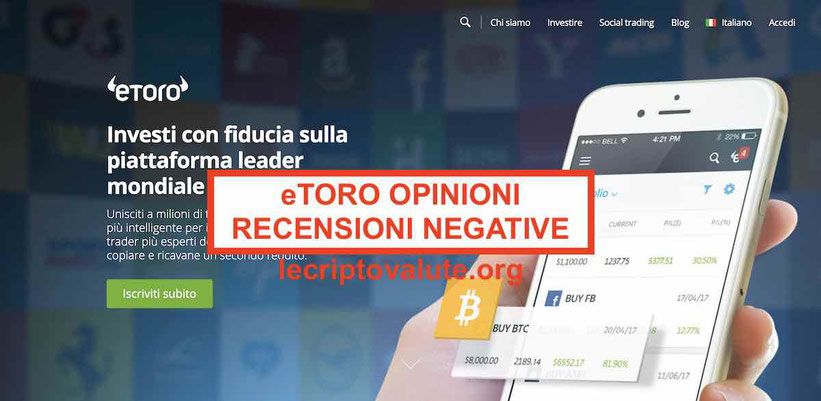 Guida principianti eToro opinioni recensioni negative Italia 2019