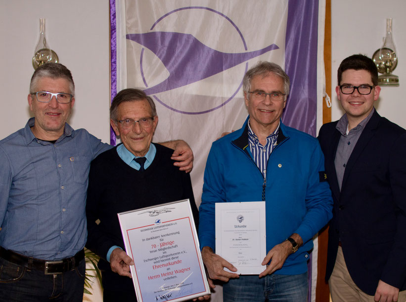 Andreas Wagner, Heinz Wagner, Rainer Fröhlich und Jonas Weinrich (v.l.n.r)