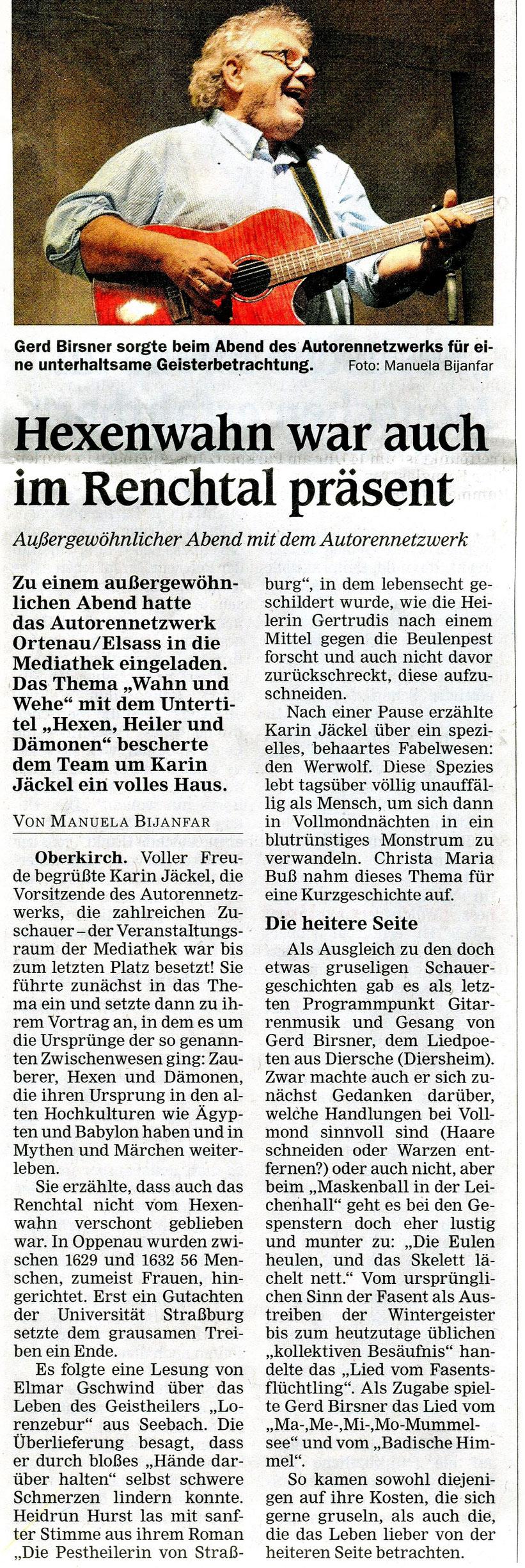 Mittelbadische Presse ARZ Oberkirch, 22. 01.2020