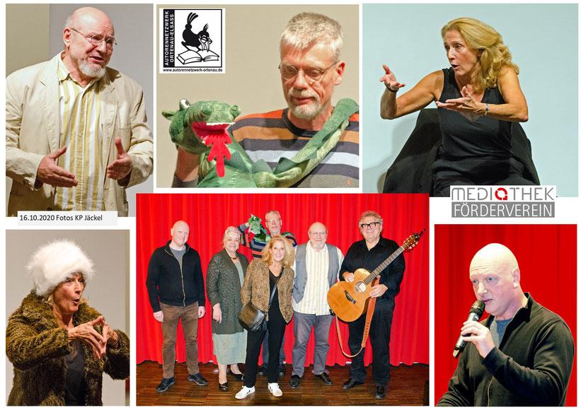Impressionen des Abends mit Christine Wolf & Pierre Zeidler, Yves Rudio, Detlef Spötter & Dragomir, Gerd Birsner, Karin Jäckel
