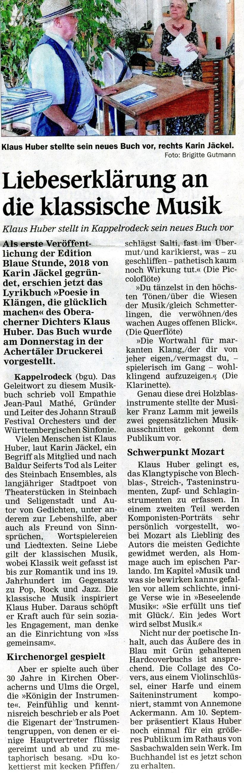 Zeitung Mittelbadische Presse