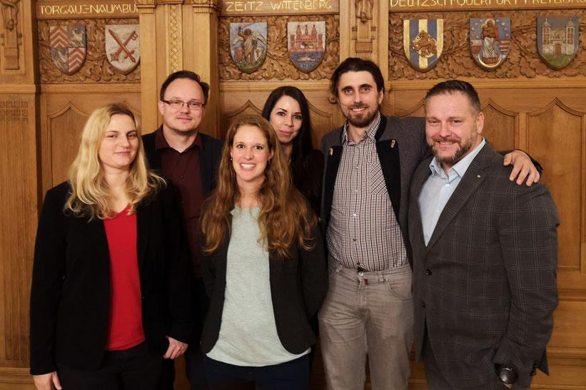 Der Vorstand 2018 der Wirtschaftsjunioren Halle