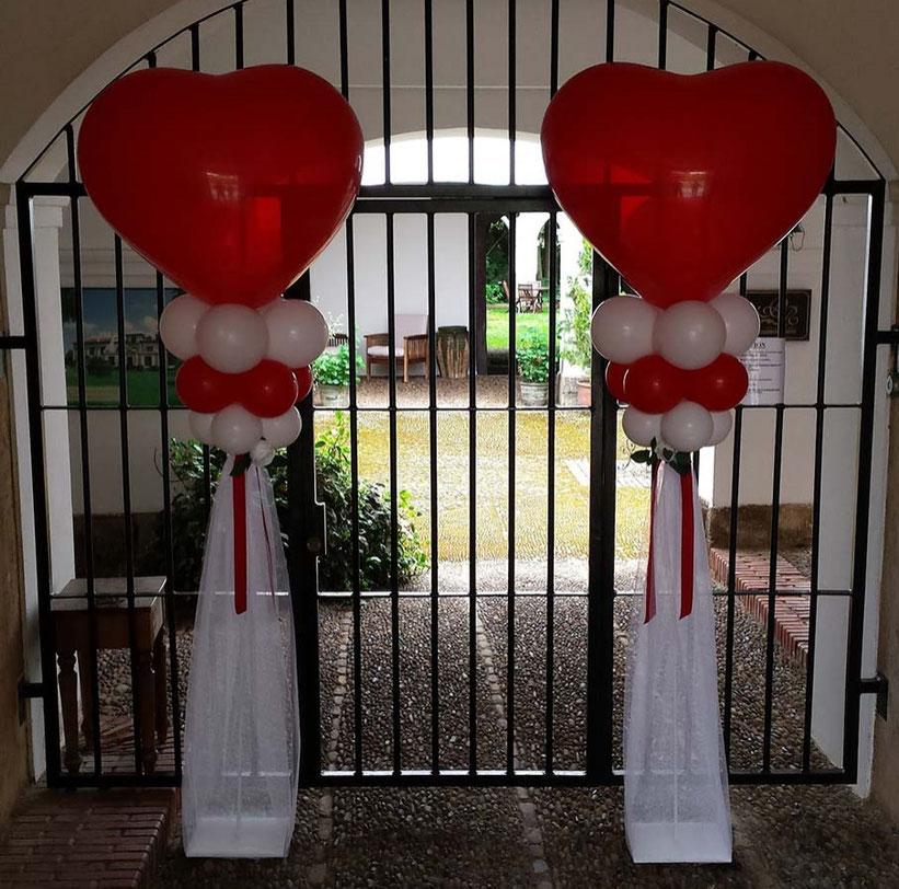 arreglo para boda con corazon