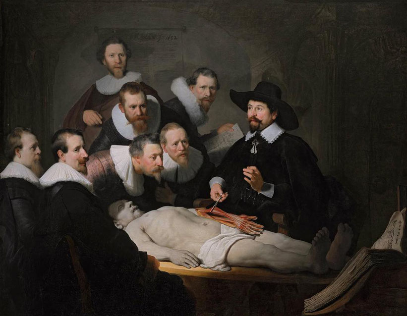 """Rembrandt, """"La lezione di anatomia del dottor Tulp"""" (1632)"""