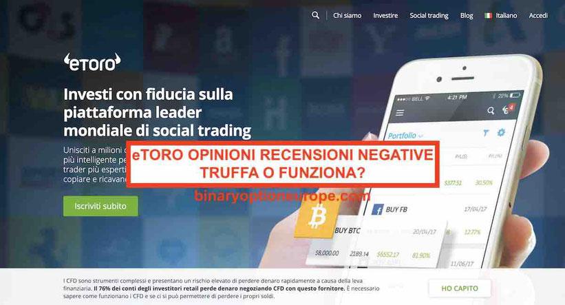 eToro Opinioni recensioni negative Italia truffa?Guida demo 2019