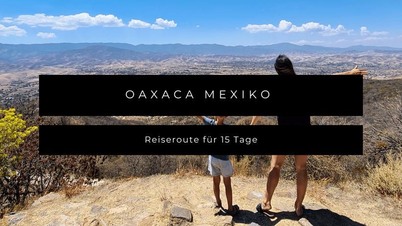 Oaxaca Mexico Kleinkind Kind Reiseroute