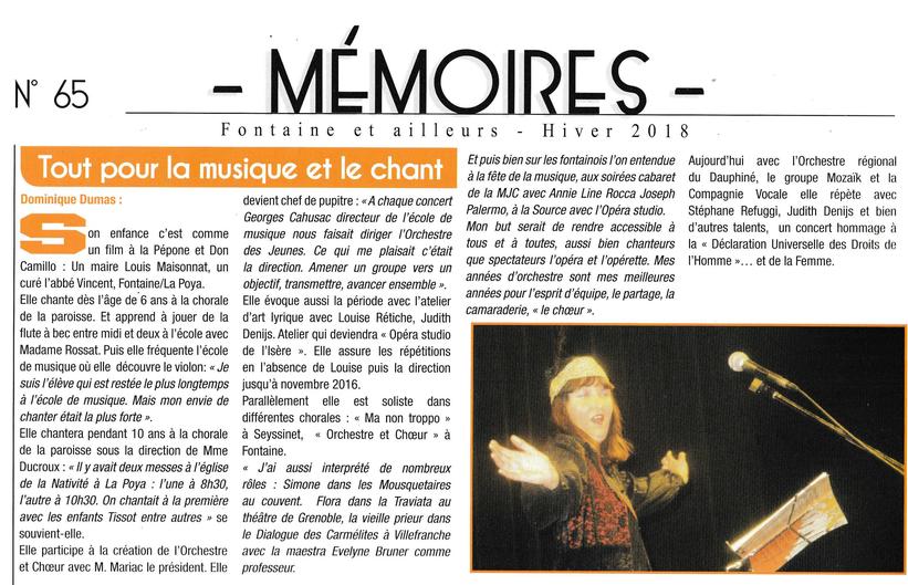 """Dominique Dumas, Chef De Cœur pour La Compagnie Vocale sur le Spectacle """"Paradis Blanc"""""""
