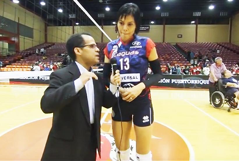 La espigada jugadora, Shirley Ferrer también pertenece a las Pentacampeonas Criollas de Caguas en la Liga de Voleibol Superior Femenina (LVSF)