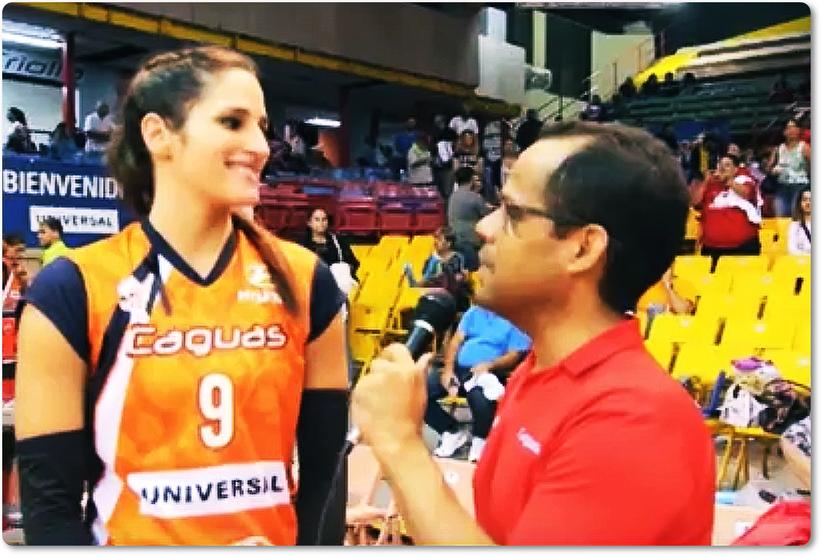 Jennifer Nogueras #9 en entrevista durante la Serie Final de la LVSF 2017 en la cual barrieron a las Valencianas de Juncos en 4 partidos