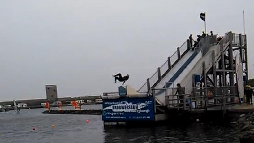 Water Jump Brouwersdam, Niederlande