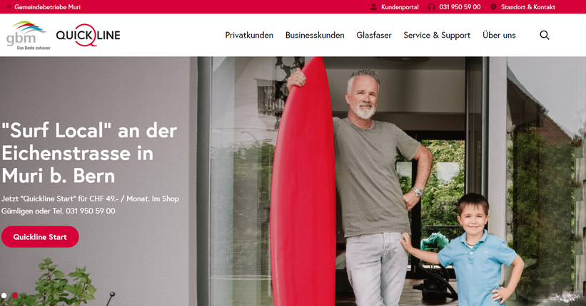surf local gbm Telecom Kampagne