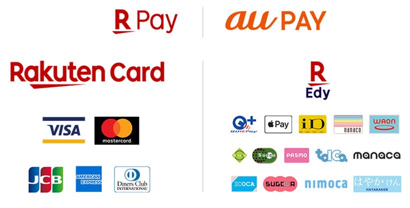 クレジット・電子決済・交通系カードブランドリスト