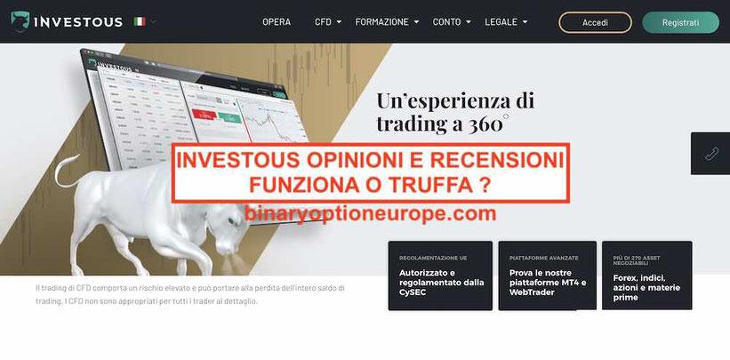 Investous recensioni e opinioni truffa o funziona Guida Italia 2019