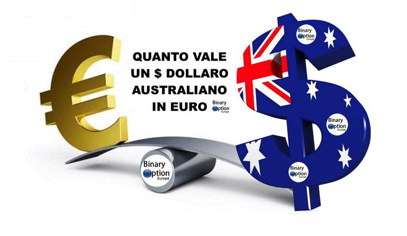 immagine quanto vale un dollaro australiano in erui