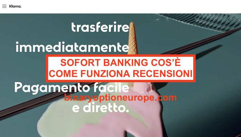 Sofort Banking come funziona cos'è il bonifico diretto recensioni