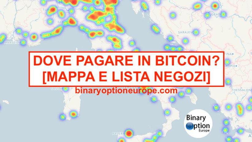dove spendere e pagare in bitcoin in italia lista negozi mappa