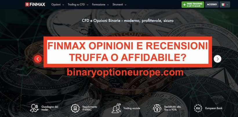 Finmax recensione opinioni e demo piattaforma trading truffa