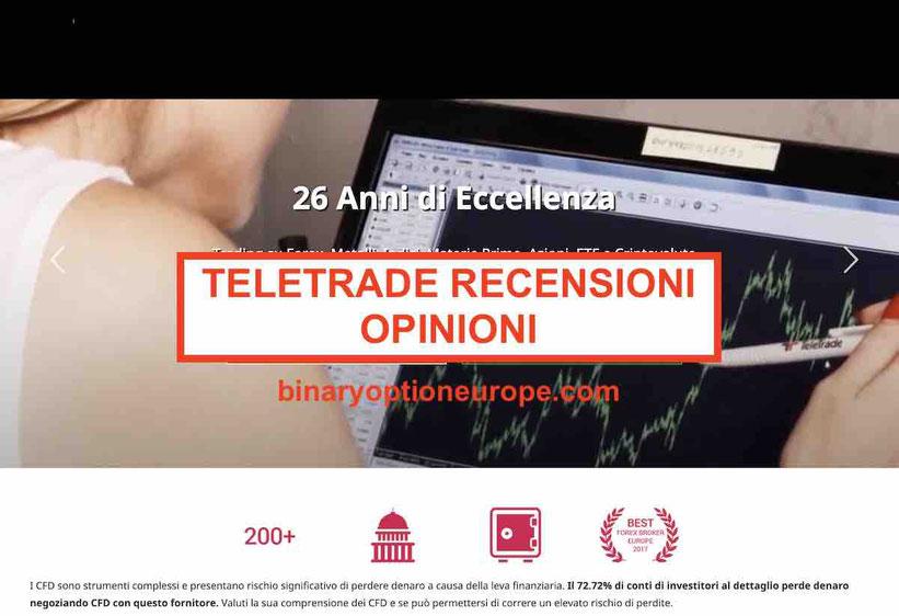 Teletrade Invest Italia recensionie opinioni Consob: funziona o truffa