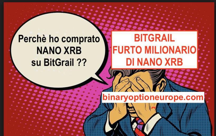 bitgrail furto milionario nano xrb opinioni italiano