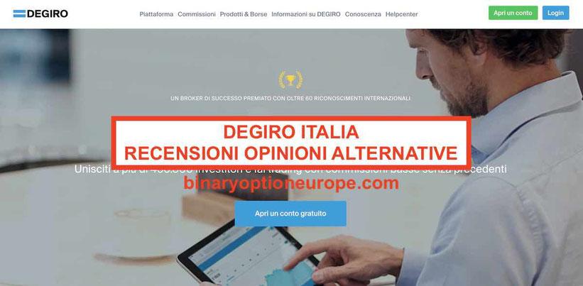 ▷ Degiro Italia opinioni recensioni truffa? Conviene demo e alternative?