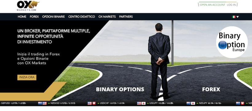 oxmarkets broker opzioni binarie e forex rimborso in contanti