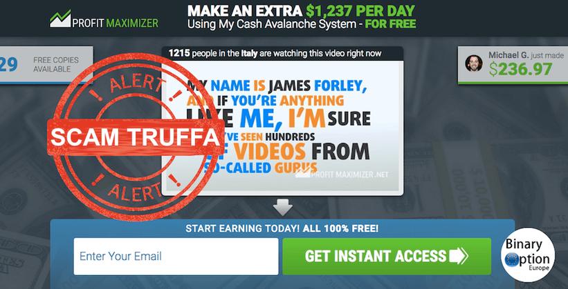 profit maximizer italia truffa