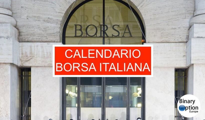 calendario borsa italiana 2021 pdf orario apertura e chiusura