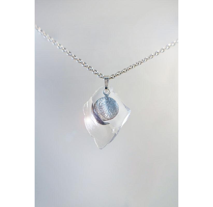 Anhänger in Silber 925 mit Glas