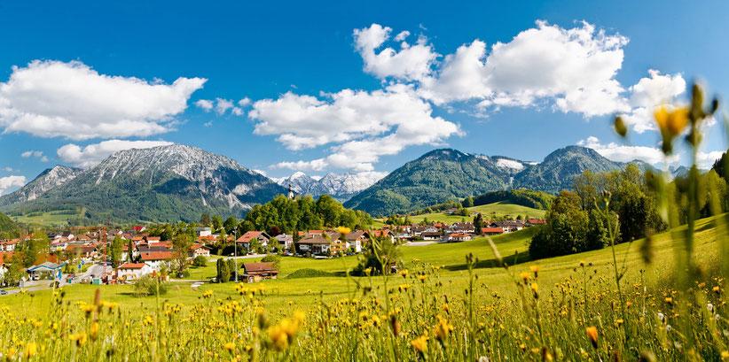 Blick auf Ruhpolding. Foto: Ruhpolding Tourismus GmbH/PR