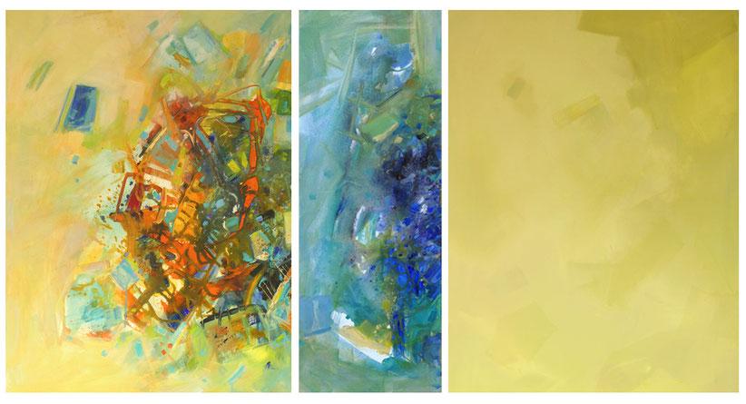 Format:Triptichon 150 cm x 80 cm • Technik: Acryl auf Leinwand