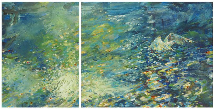 Titel: Die Möwe • Format: 150 cm x 80 cm