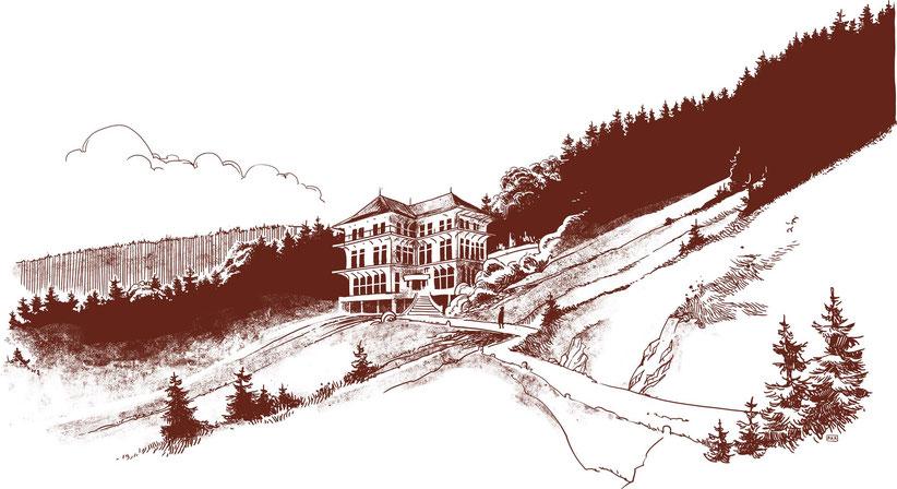 La Villa Bunau-Varilla reste toujours distante et mystérieuse...