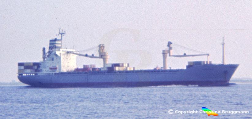 Containerschiff USARAMO, Elbe 1984