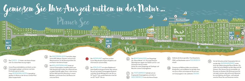 Lageplan Inselcamping Werder