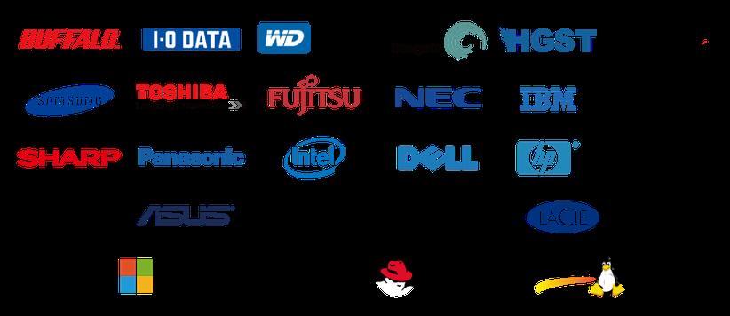 データ復旧サービスに対応しているメーカー