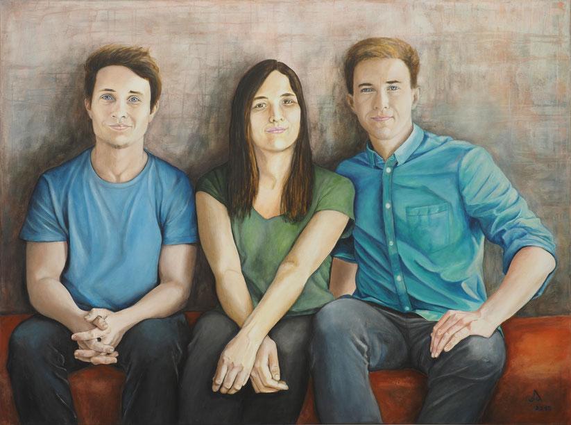 """""""Geschwister"""" * Acryl auf Leinwand * 120 x 160 cm * 2019"""