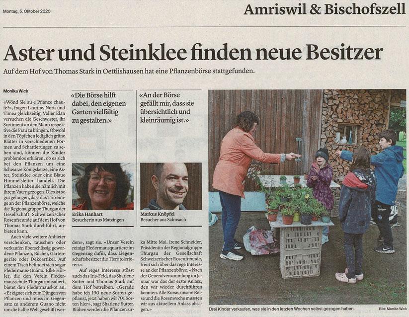 Pflanzenbörse Gesellschaft Schweizerischer Rosenfreunde, Thurgau Gruppe