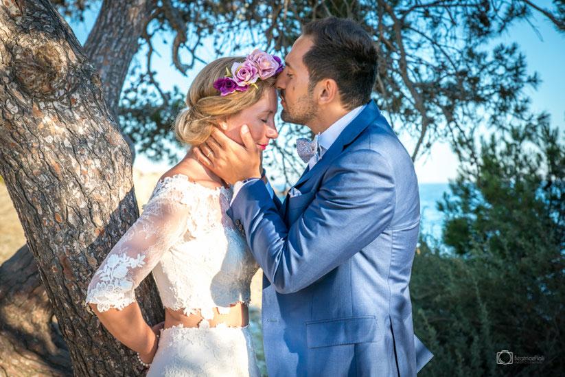 Photo couple mariage, les mariés, trash the dress