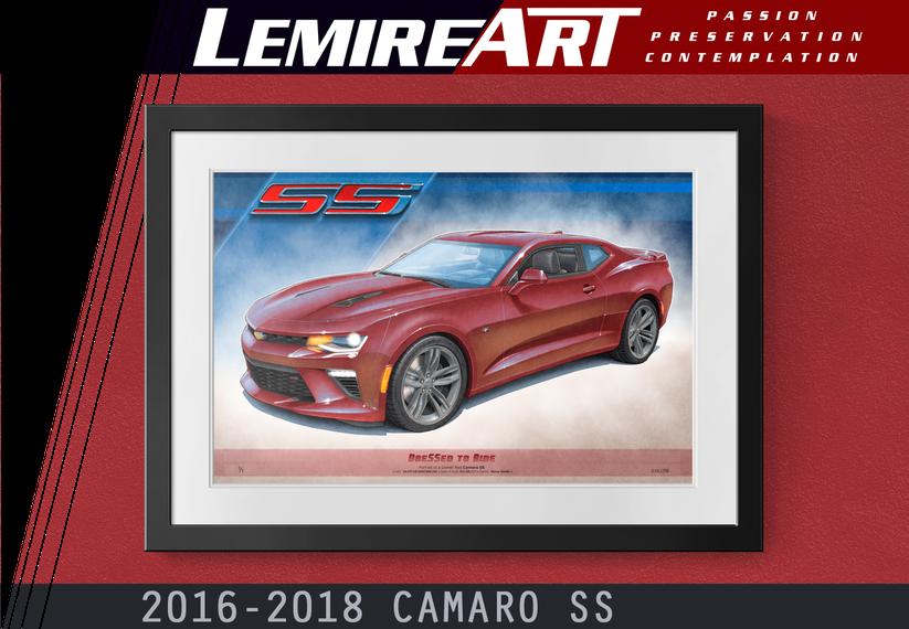 2016 Camaro SS drawing, 2017 Camaro SS drawing, 2018 Camaro SS drawing