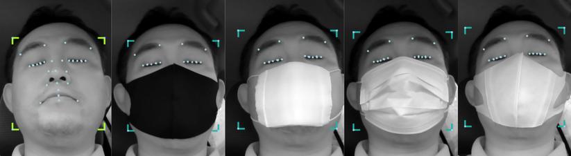 マスク装着顔での認識イメージ