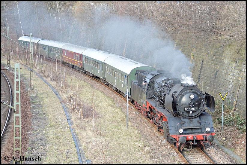 Gleich wird Chemnitz-Süd erreicht sein, wo ein kurzer Halt eingeplant ist