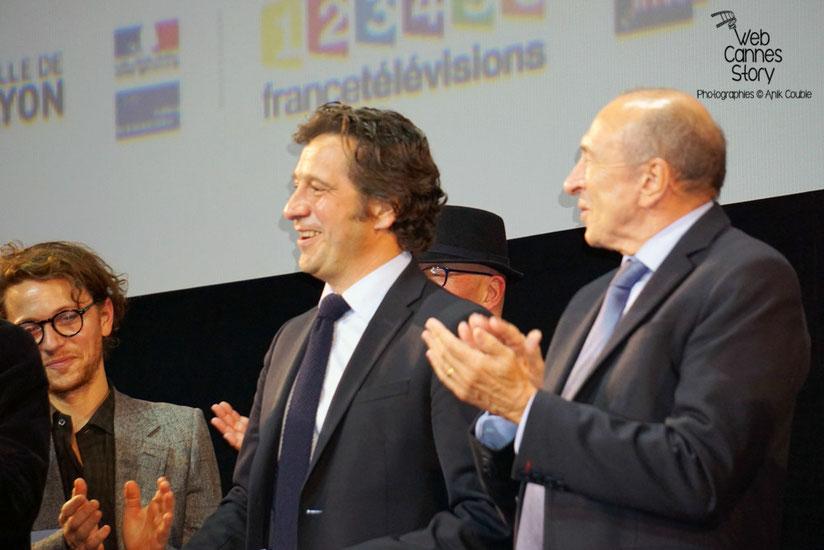 Laurent Gerra,   livrant une prestation hilarante,  lors de la cérémonie d'ouverture du Festival Lumière 2015 - Lyon - Photo © Anik COUBLE